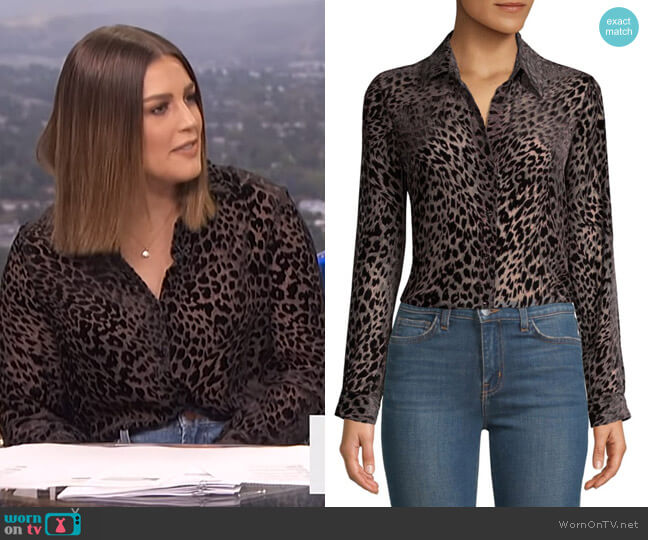 Nina Blouse by L'Agence worn by Carissa Loethen Culiner  on E! News