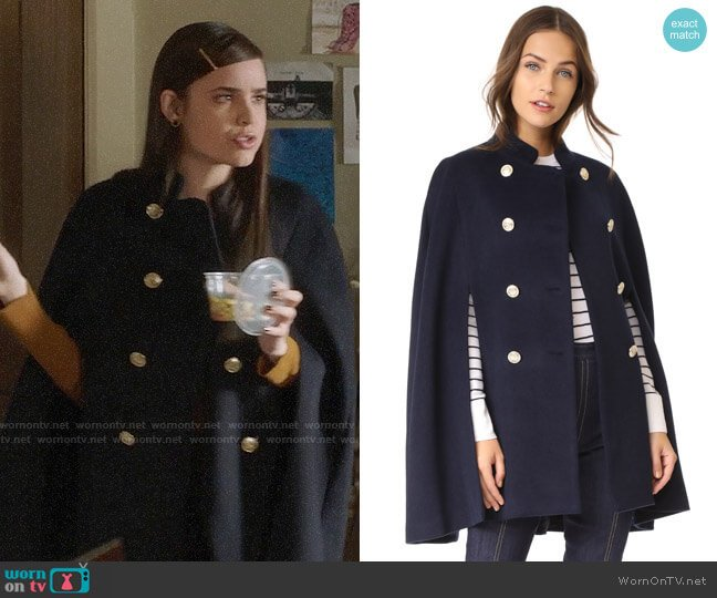 L'Agence Kelly Cape worn by Ava Jalali (Sofia Carson) on PLL The Perfectionists