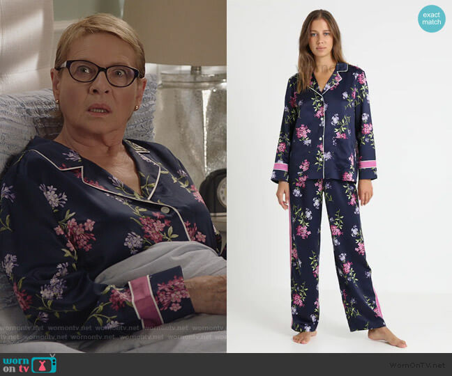 Floral Pajamas by Ralph Lauren worn by Joan Short (Dianne Wiest) on Life in Pieces