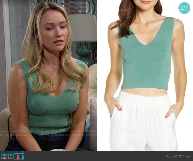 Leith Sassy Crop Tank worn by Florence (Katrina Bowden) on The Bold & the Beautiful