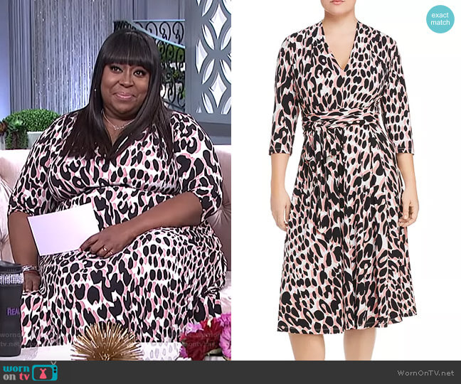 Mahlia Leopard Print Belted Dress by Leota Plus worn by Loni Love  on The Real