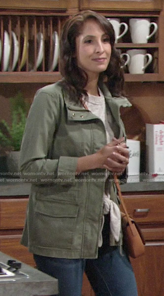 Lily's army jacket on The Young and the Restless