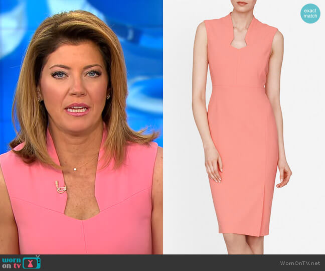 Dendra Sheath Dress by LK Bennett worn by Norah O'Donnell  on CBS This Morning