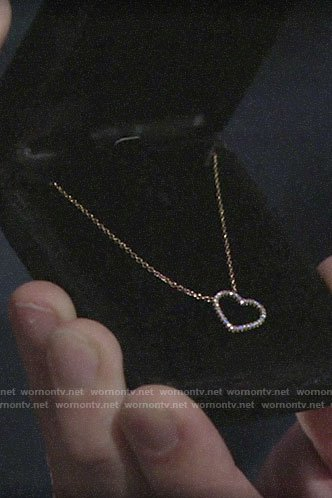 Lola's heart pendant necklace from Kyle on The Young and the Restless