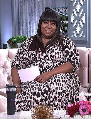 Loni's white leopard print dress on The Real