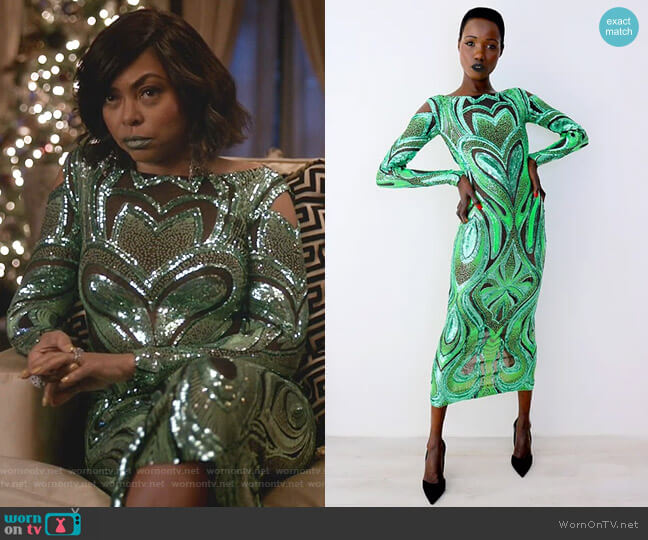 Love Dress by Marc Bouwer worn by Cookie Lyon (Taraji P. Henson) on Empire