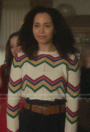 Macy's chevron striped sweater on Charmed