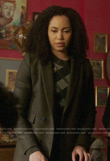 Macy's olive coat on Charmed