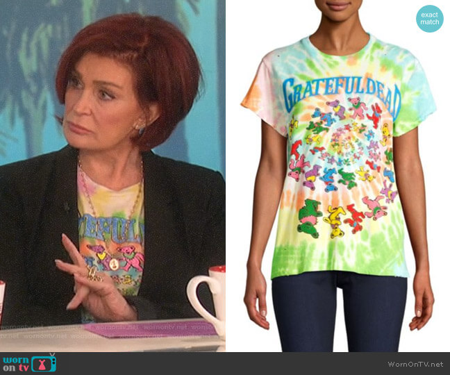 Grateful Dead Bears Tie-Dye Tee by Madeworn worn by Sharon Osbourne  on The Talk