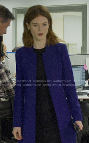 Maia's purple coat on The Good Fight