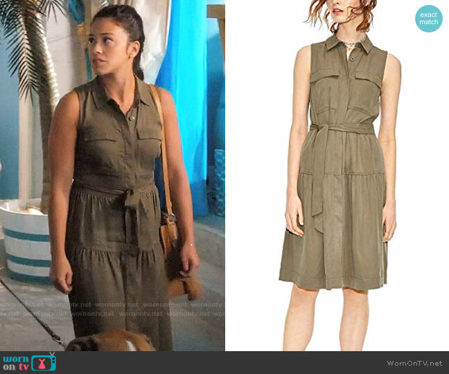 Maison Jules Utility-Pocket A-Line T-Shirt Dress worn by Jane Villanueva (Gina Rodriguez) on Jane the Virgin