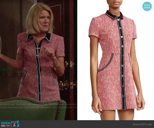 Maje Renati Dress worn by Pamela Douglas (Alley Mills) on The Bold & the Beautiful