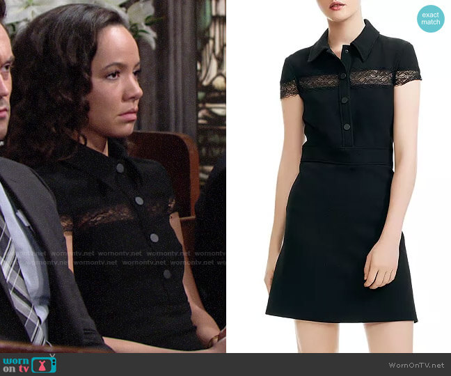 Maje Riloi Dress worn by Mattie Ashby (Lexie Stevenson) on The Young & the Restless