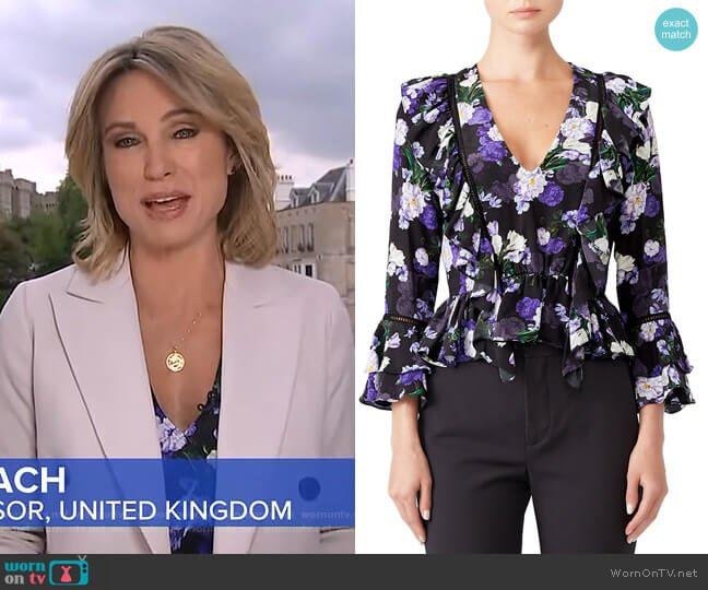 Blossom Blouse by Marissa Webb worn by Amy Robach  on Good Morning America