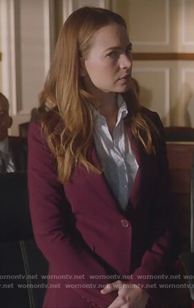 Sandra's maroon blazer on For the People
