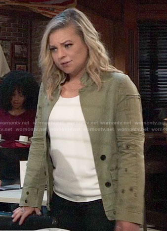 Maxie's army jacket on General Hospital