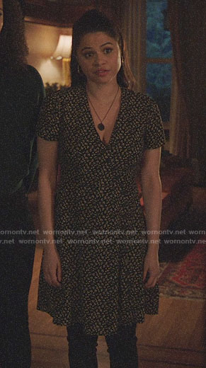 Mel's floral button front dress on Charmed