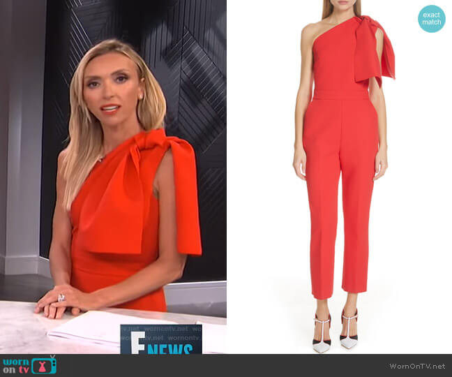 Bow One-Shoulder Jumpsuit by MSGM worn by Giuliana Rancic  on E! News