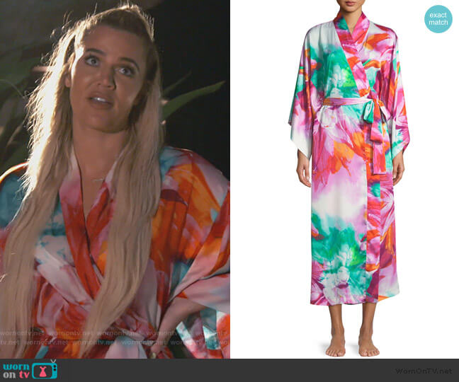 Paraiso Long Kimono Robe by Natori worn by Khloe Kardashian  on Keeping Up with the Kardashians