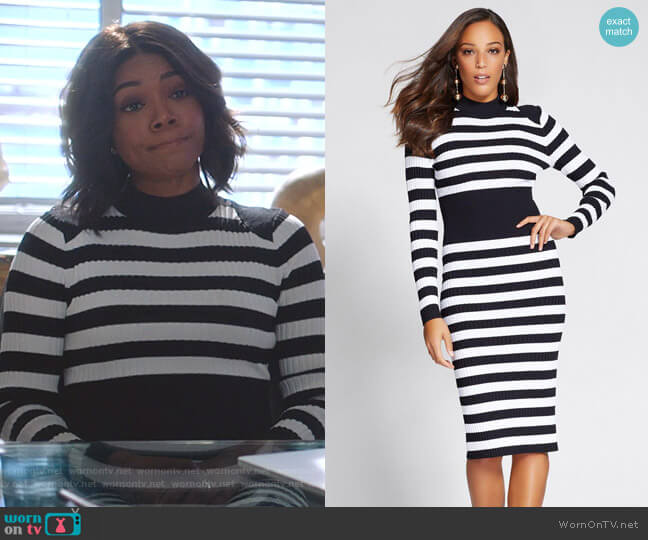 Mock Neck Sweater Dress - Gabrielle Union Collection by New York & Company worn by Mary Jane Paul (Gabrielle Union) on Being Mary Jane