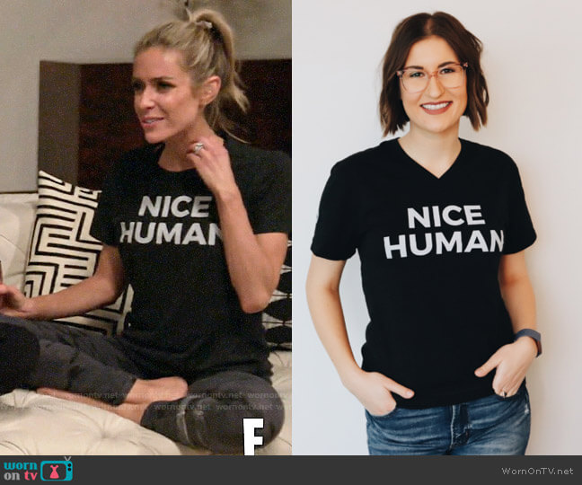 Nice Branding Agency Nice Human Shirt worn by Kristin Cavallari  on Very Cavallari