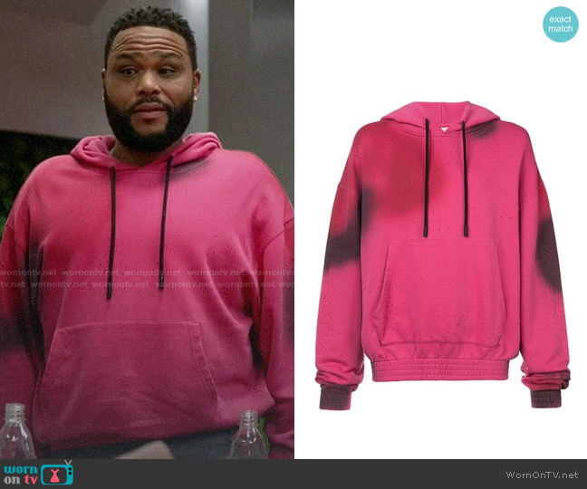 Off-White Spray Hoodie worn by Andre Johnson (Anthony Anderson) on Blackish