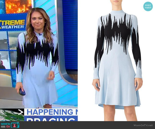 Intarsia Dress by Opening Ceremony worn by Ginger Zee (Ginger Zee) on Good Morning America