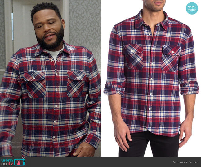 Ovadia & Sons Ian Flannel Shirt worn by Andre Johnson (Anthony Anderson) on Blackish