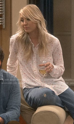 Penny's star print shirt on The Big Bang Theory