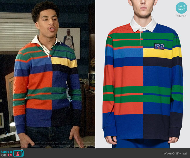 Polo Ralph Lauren Rustic Polo worn by Andre Johnson Jr (Marcus Scribner) on Blackish