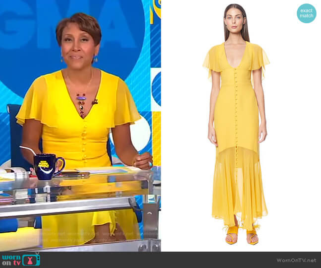 Victoria Dress by Prabal Gurung worn by Robin Roberts  on Good Morning America