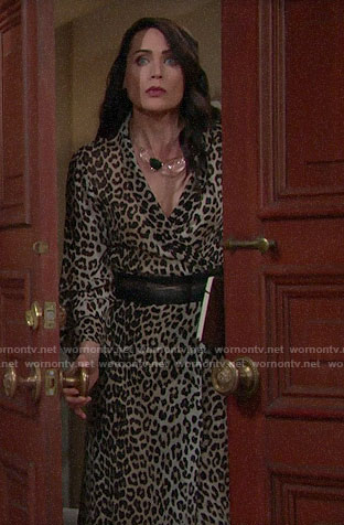 Quinn's leopard print dress on The Bold and the Beautiful