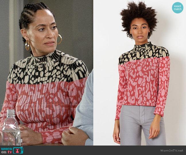 Rachel Comey Acute Sweater worn by Rainbow Johnson (Tracee Ellis Ross) on Blackish