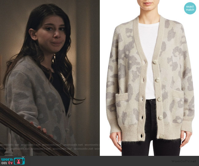 Leopard Print Oversize Cardigan by Rag & Bone worn by Allison McCord (Kathrine Herzer) on Madam Secretary