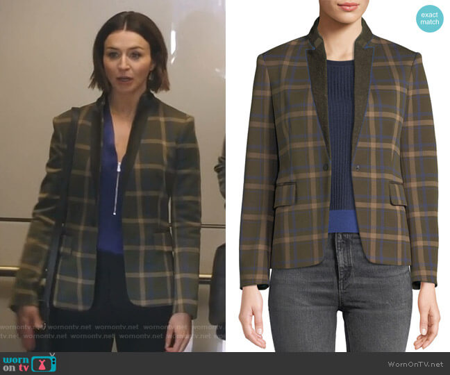 Naomi Blazer by Rag & Bone worn by Amelia Shepherd (Caterina Scorsone) on Greys Anatomy
