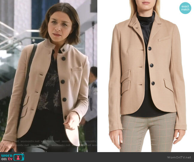Slade Blazer by Rag & Bone worn by Amelia Shepherd (Caterina Scorsone) on Greys Anatomy