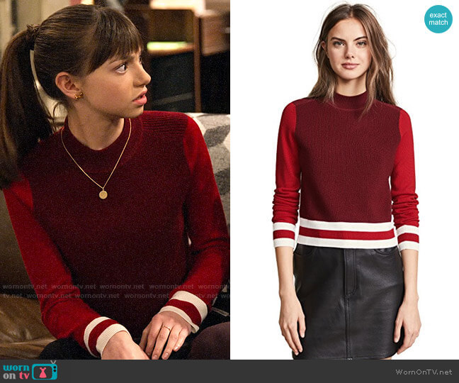 Rag & Bone Dean Sweater worn by Molly (Lauren Lindsey Donzis) on No Good Nick