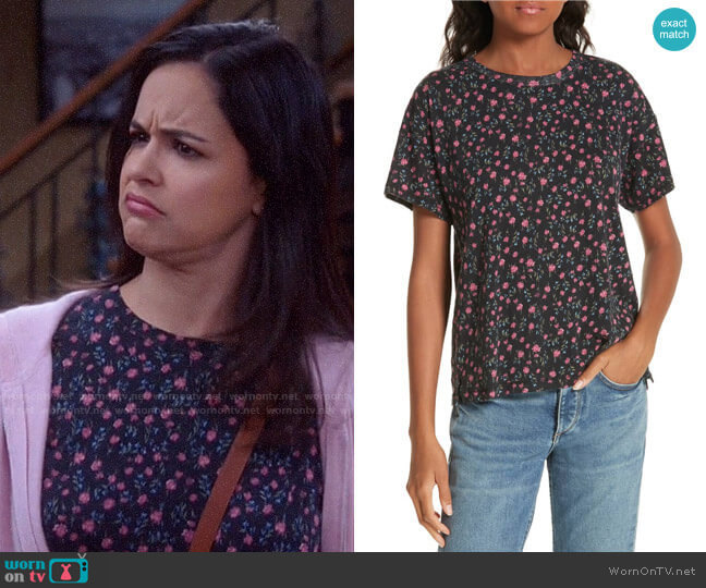 Rag & Bone Floral Vintage Tee worn by Amy Santiago (Melissa Fumero) on Brooklyn Nine-Nine