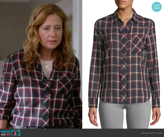 Rag & Bone Robbie Shirt worn by Lena (Jenna Fischer) on Splitting Up Together