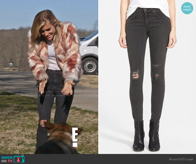 Rag & Bone Shredded Skinny Jeans worn by Kristin Cavallari  on Very Cavallari