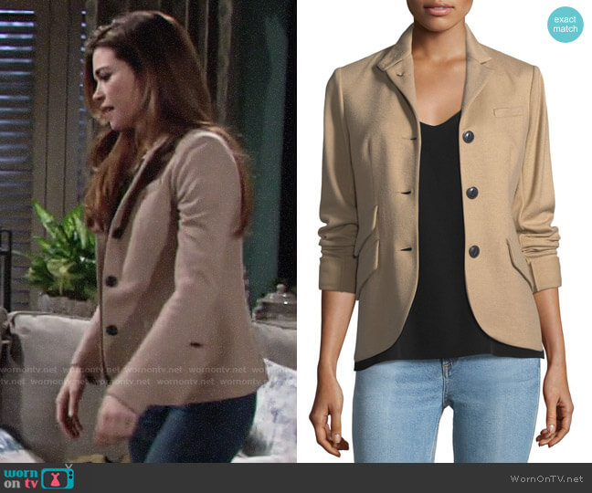 Rag & Bone Slade Blazer worn by Victoria Newman (Amelia Heinle) on The Young & the Restless