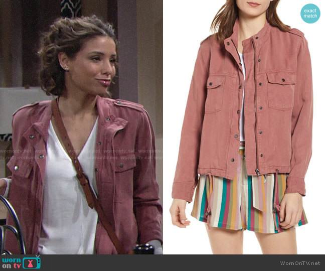 Rails Collins Jacket worn by Elena Dawson (Brytni Sarpy) on The Young & the Restless