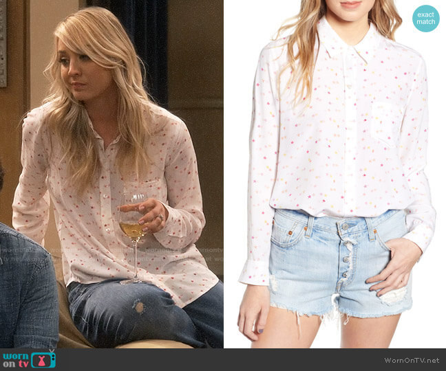 Rails Kate Shirt in Etoiles worn by Penny Hofstadter (Kaley Cuoco) on The Big Bang Theory