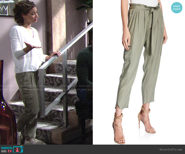 Ramy Brook Allyn Pants worn by Elena Dawson (Brytni Sarpy) on The Young & the Restless