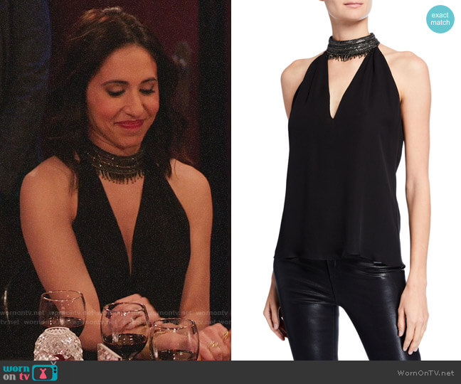 Ramy Brook Raelyn Top worn by Valencia Perez (Gabrielle Ruiz) on Crazy Ex-Girlfriend