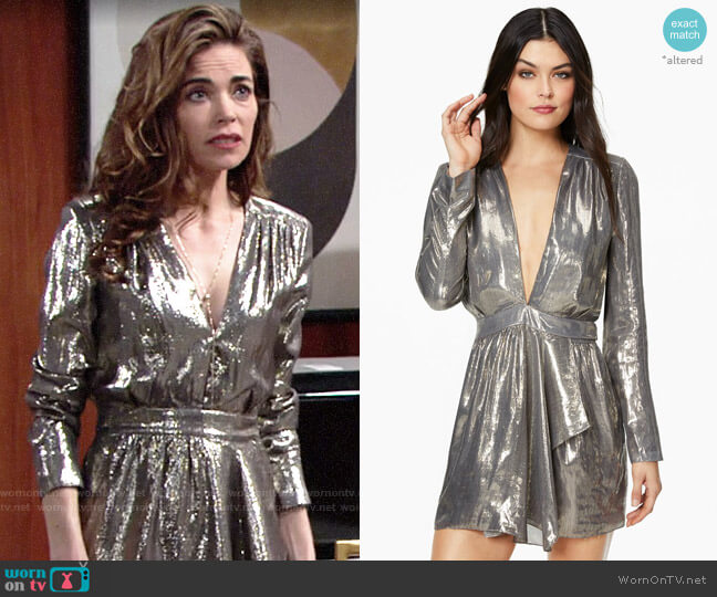 Ramy Brook Shaina Dress worn by Victoria Newman (Amelia Heinle) on The Young & the Restless