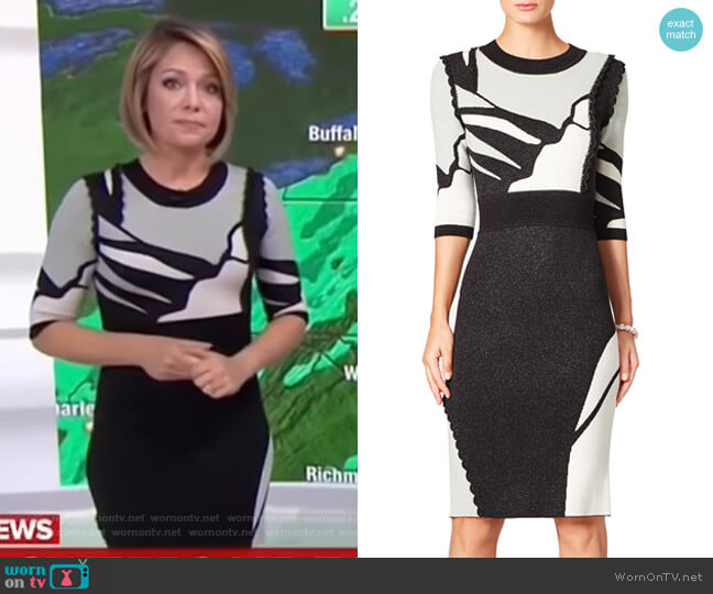 Contrast Intarsia Dress by Raoul worn by Dylan Dreyer  on Today