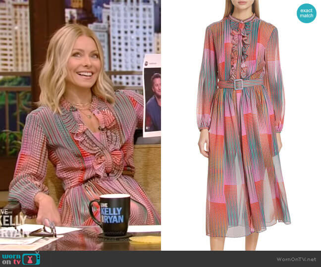 Raquel Dress by Saloni worn by Kelly Ripa  on Live with Kelly & Ryan