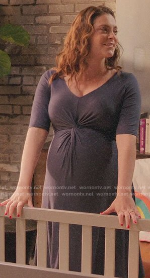 Rebecca's twist front maternity dress on Crazy Ex-Girlfriend