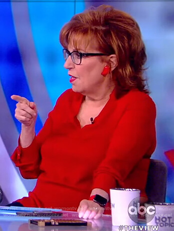 Joy's red blouse on The View
